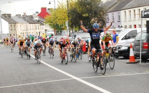Robin Kelly Waterford wins Stage 2b from Liam Corcoran Castlebar CC, 3rd John Lynch Murphy Surveys Kilcullen CC
