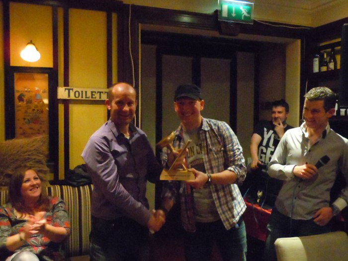 Martin Joyce winner of the wheel sucker of the year award