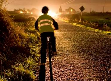 Cyclist in poor light