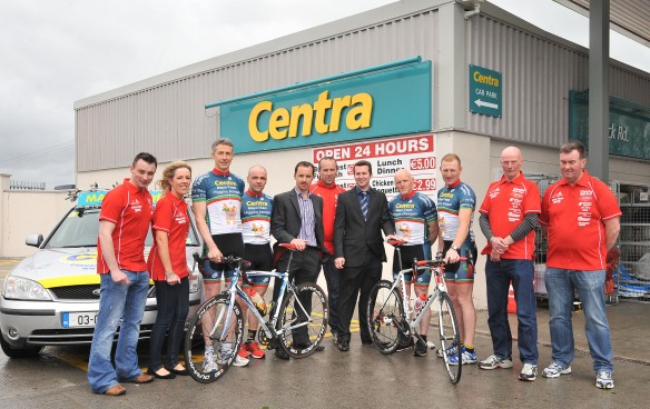 Team and support crew with Garry Higgins and Paul keegan Centra. 2