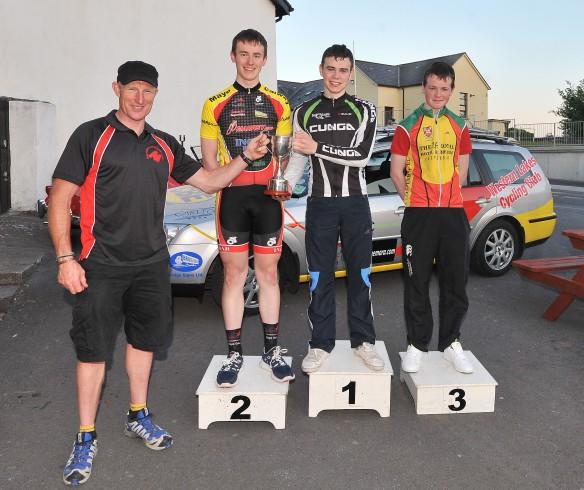 Podium L to R Padraig Marrey, Kieran Heneghan 2nd, Jason Prendergast 1st, Cale Coen 3rd