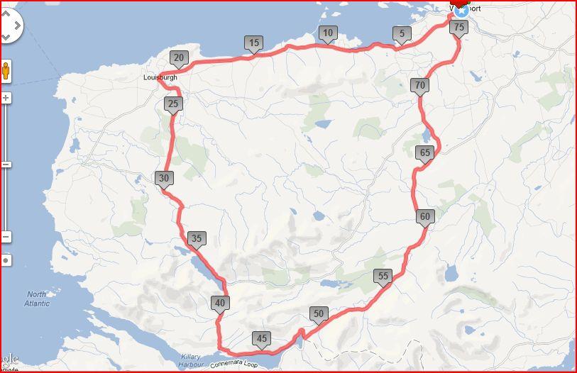 Ramble around the Reek 80k route