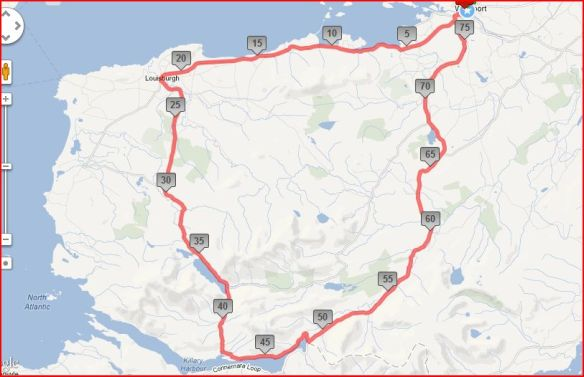 Ramble around the Reek 80k route