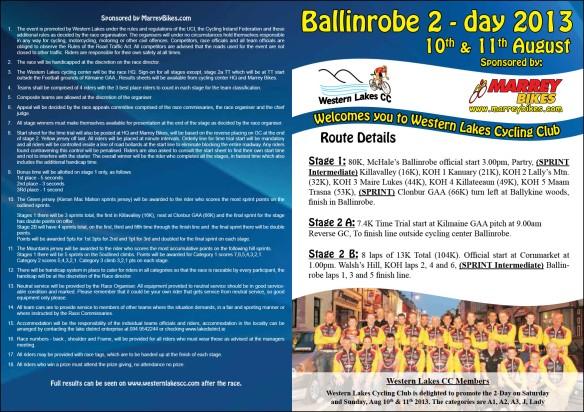 Ballinrobe 2 day Page 1 Pamphlet 2013
