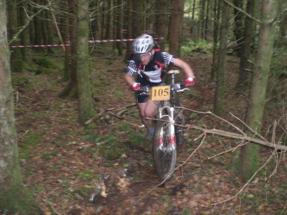 Michael Flanangan 2nd Runs with his punctured bike