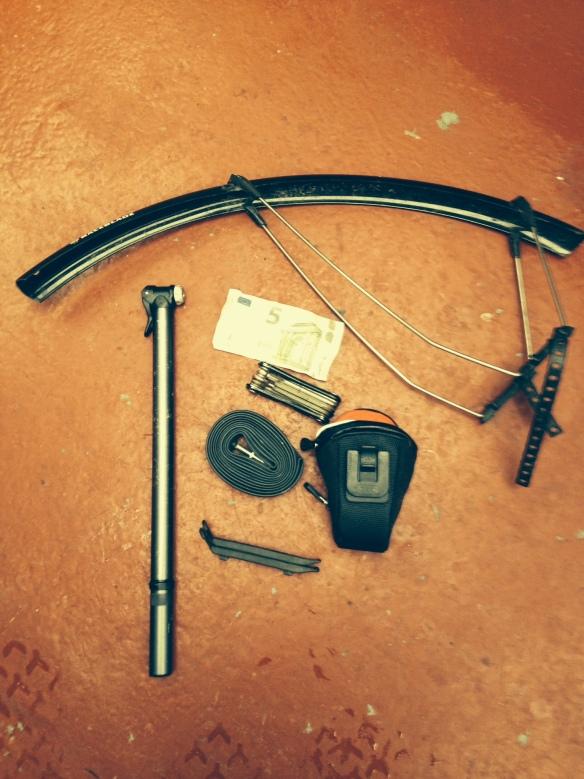 Repair stuff for saddle bag
