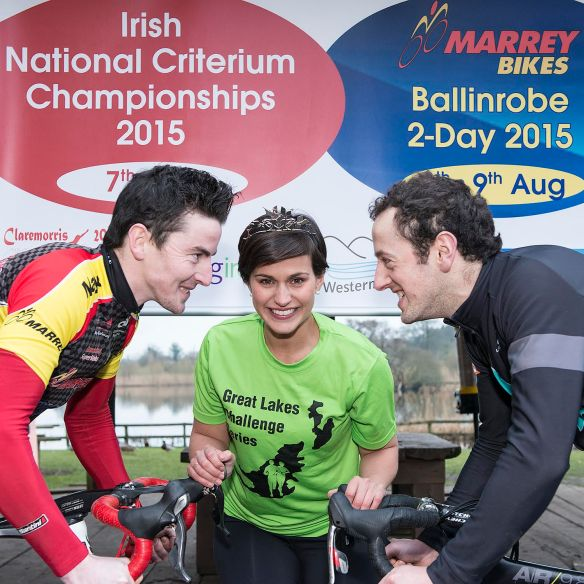 Sean O Malley the Rose of Tralee and Patrick Clarke at Criterium National champs Launch