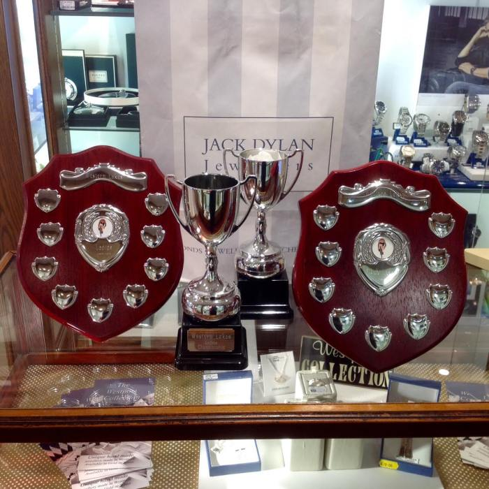 Trophies for league and champs