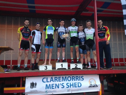 Podium of claremorris crit 2016.