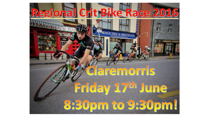 POSTER FOR CLAREMORRIS CRIT 2016