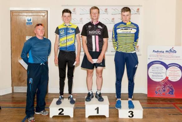Stage 1 podium